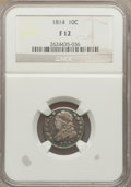 Bust Dimes: , 1814 10C Large Date Fine 12 NGC. NGC Census: (5/156). PCGSPopulation (7/155). Mintage: 421,500. Numismedia Wsl. Price for ...