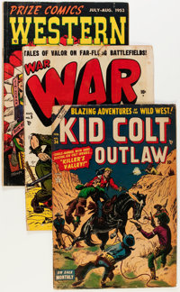 Comic Books - Assorted Silver and Bronze Age War and Western Comics Group (Various Publishers, 1950s-'70s) Condition: Av...