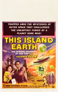 "Movie Posters:Science Fiction, This Island Earth (Universal International, 1955). Window Card (14""X 22"").. ..."