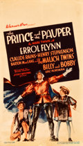 "Movie Posters:Swashbuckler, The Prince and the Pauper (Warner Brothers, 1937). Midget Window Card (8"" X 14"").. ..."