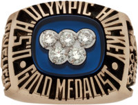 "1980 ""Miracle on Ice"" Olympic Hockey Ring Presented to Mark Pavelich"