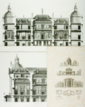"Books:Prints & Leaves, [Architecture]. Large Group of Architectural Prints. Most measureabout 21"" x 29"". Very good. . ..."