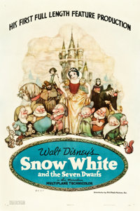 """Snow White and the Seven Dwarfs (RKO, 1937). One Sheet (27.5"""" X 41.25"""") Style B"""