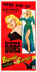 "Movie Posters:Bad Girl, Blonde Sinner (Allied Artists, 1956). Three Sheet (41.5"" X 80"")....."