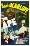 "Movie Posters:Horror, The Ape (Monogram, 1940). One Sheet (27"" X 41.5"").. ..."
