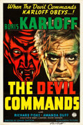 "Movie Posters:Horror, The Devil Commands (Columbia, 1941). Autographed One Sheet (27"" X41"").. ..."