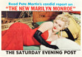 "Movie Posters:Miscellaneous, Marilyn Monroe Saturday Evening Post Magazine (Curtis Publishing,1956). Newstand Poster (28"" X 40"").. ..."