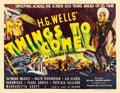 "Movie Posters:Science Fiction, Things to Come (United Artists, 1936). Half Sheet (22"" X 28"").. ..."
