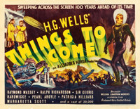 "Things to Come (United Artists, 1936). Half Sheet (22"" X 28"")"