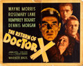 "Movie Posters:Horror, The Return of Dr. X (Warner Brothers, 1939). Half Sheet (22"" X 28"")Style A.. ..."