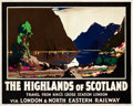 "Movie Posters:Miscellaneous, Scotland Travel Poster (LNER, c. 1930). Poster (40"" X 50"") ""TheHighlands of Scotland,"" Artist: Frank Henry Mason.. ..."