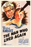 "Movie Posters:Horror, The Man Who Lived Again (Gaumont, 1936). One Sheet (27"" X 41"")....."