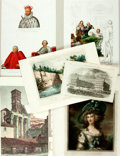 Books:Prints & Leaves, Large Group of Miscellaneous Chromolithographs and Two-TonedLithographs. Includes costume and dress as well as landscapes a...