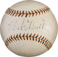 Autographs:Baseballs, Circa 1932 Babe Ruth Single Signed Baseball, PSA/DNA EX-MT+ 6.5....