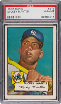 1952 Topps Mickey Mantle #311 PSA NM-MT 8