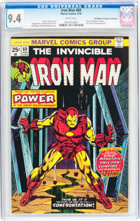 Iron Man #69 Don/Maggie Thompson Collection pedigree (Marvel, 1974) CGC NM 9.4 White pages