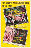 """Movie Posters:Science Fiction, Attack of the Crab Monsters/Not of This Earth Combo (AlliedArtists, 1957). One Sheet (27"""" X 41.5"""").. ..."""