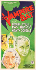 "Movie Posters:Horror, The Vampire Bat (Majestic, 1933). Three Sheet (41"" X 78.75"").. ..."