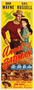"""Movie Posters:Western, Angel and the Badman (Republic, 1947). Insert (14"""" X 36"""").. ..."""