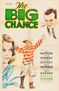 "Movie Posters:Drama, The Big Chance (Eagle, 1933). One Sheet (27"" X 41""). Drama.. ..."