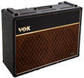 Musical Instruments:Amplifiers, PA, & Effects, 1968 Vox AC30 Black Guitar Amplifier, #13492-TB....