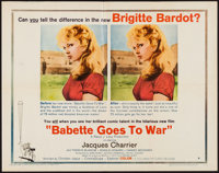 """Babette Goes to War (Columbia, 1960). Half Sheet (22"""" X 28"""") Style B. Comedy"""