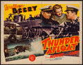 "Movie Posters:War, Thunder Afloat (MGM, 1939). Half Sheet (22"" X 28""). War.. ..."