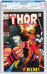 Thor #165 Don/Maggie Thompson Collection pedigree (Marvel, 1969) CGC VF/NM 9.0 White pages