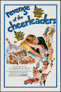 "Revenge of the Cheerleaders & Others Lot (Monarch, 1976). One Sheets (4) (27"" X 40"" & 27"" X 41&qu..."