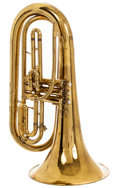 Musical Instruments:Horns & Wind Instruments, 1960 King 1124 Brass Marching Baritone, #103194....