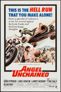 "Movie Posters:Exploitation, Angel Unchained (American International, 1970). One Sheet (27"" X 41"") & Lobby Card Set of 8 (11"" X 14""). Exploitation.. ... (Total: 9 Items)"