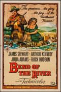 "Movie Posters:Western, Bend of the River (Universal International, 1952). One Sheet (27"" X 41""). Western.. ..."