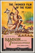 "Movie Posters:Action, Samson and the Seven Miracles of the World & Other Lot(American International, 1961). One Sheets (2) (27"" X 41"").Action.. ... (Total: 2 Items)"
