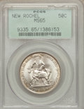Commemorative Silver: , 1938 50C New Rochelle MS65 PCGS. PCGS Population (1535/1089). NGCCensus: (1002/637). Mintage: 15,266. Numismedia Wsl. Pric...