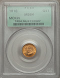 Commemorative Gold: , 1916 G$1 McKinley MS64 PCGS. PCGS Population (1363/1638). NGCCensus: (758/883). Mintage: 9,977. Numismedia Wsl. Price for ...