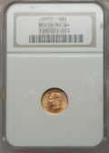 Commemorative Gold: , 1917 G$1 McKinley MS64 NGC. NGC Census: (410/544). PCGS Population(793/1044). Mintage: 10,000. Numismedia Wsl. Price for p...