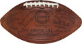 Football Collectibles:Balls, 1946 Green Bay Packers Team Signed Football with Kiesling, Lambeau, Bruce Smith....