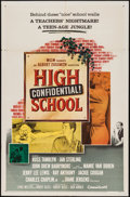 """Movie Posters:Exploitation, High School Confidential (MGM, 1958). One Sheet (27"""" X 41""""). Exploitation.. ..."""
