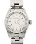 Timepieces:Wristwatch, Lady's Oyster Perpetual Steel Wristwatch. ...