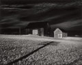 Photographs, MINOR WHITE (American, 1908-1976). Two Barns and Shadow, 1955. Gelatin silver, printed circa 1970. 8-1/4 x 12 inches (21...