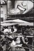Photographs:Gelatin Silver, LEONARD FREED (American, 1929-2006). Woman Eating, Rome,Italy, 2000. Vintage gelatin silver. 8-3/4 x 6 inches (22.2 x1...