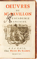 Books:Literature Pre-1900, [French Poetry]. Oeuvres de Mr. Pavillon de L'Academie Francoise. Henri du Suazet, 1715. Twelvemo. Contemporary full...