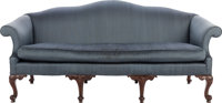 A CHIPPENDALE-STYLE CAMELBACK SOFA, 20th century 39 x 82 x 34 inches (99.1 x 208.3 x 86.4 cm)  WEIDER HEALTH
