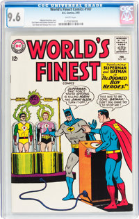 World's Finest Comics #147 (DC, 1965) CGC NM+ 9.6 White pages