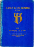 Books:Americana & American History, [Olympics]. Frederick W. Rubien, editor. Report of the AmericanOlympic Committee. New York: American Olympic Commit...