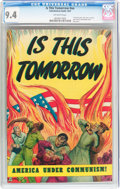 Golden Age (1938-1955):Religious, Is This Tomorrow #nn (Catechetical Guild, 1947) CGC NM 9.4 Off-white pages....