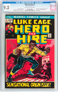 Bronze Age (1970-1979):Superhero, Hero for Hire #1 (Marvel, 1972) CGC NM- 9.2 Off-white to white pages....