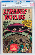 Silver Age (1956-1969):Science Fiction, Strange Worlds #1 (Atlas, 1958) CGC FN+ 6.5 Off-white pages....