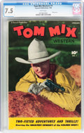 Golden Age (1938-1955):Western, Tom Mix Western #1 (Fawcett Publications, 1948) CGC VF- 7.5 Whitepages....