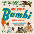 "Movie Posters:Animation, Bambi (RKO, 1942). Six Sheet (80"" X 81"").. ..."